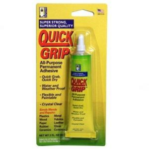 BEACON ADHESIVE'S QUICK GRIP - All Purpose, Permanent Adhesive (2oz)