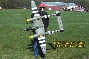 FlightLine P-38L 1600mm Denise