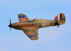 Dynam Hawker Hurricane 1250mm, 5 Channel 2.4GHz Warbird w/Retracts PNP or RTF
