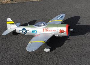 "Dynam P-47D ""Thunderbolt"", 5 Channel, 1200mm Warbird, with servoless retracts, A"