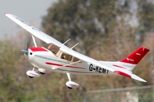 FMS 1400mm Sky Trainer 182 - 5 CH with Flap - G-KEMY - RED RTF