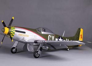 FMS P-51 Mustang V7 1400mm 5 Channel EPO Warbird/Electric Retracts/Gun Fighter/P
