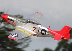 FMS P-51 Mustang 1700mm 6-Channel EPO Warbird - Electric Retracts - Red Tail - P