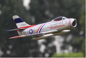 Freewing F-86 Sabre Skyblazers 64mm EDF Jet - PNP