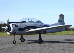 Dynam T-28 / 5 Channel 2.4GHz Fighter Trainer w/Retracts, Nav Lights & Flap Kit