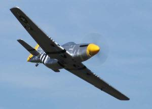 Dynam P-51 Mustang 1200mm 5 Channel 2.4GHz Fighter w/Retracts & Nav Lights/Flap