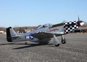 "JPower P-51 Mustang GIANT scale 61"" RC Fighter/Servoless Metal Retracts w/Shocks"