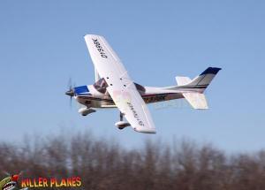 Dynam Cessna 182 Sky Trainer 4CH 2.4gHz RC Remote Control Electric Plane w/ Burs