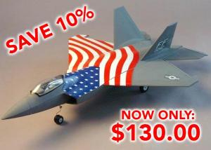 Starmax F-22 Raptor 4 Channel, 2.4 Ghz, Brushless 70mm Ducted Fan RC Jet / PNP