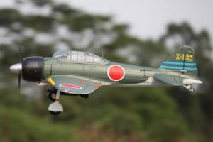 FMS 140mm Mitsubishi A6M Zero SUPER SCALE 6 Chanel RC EPO Fighter w/Servoless Re