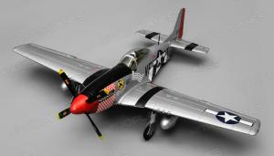 Airfield P-51 Mustang Warbird 1100mm, 6-Channel, ARF (Red)