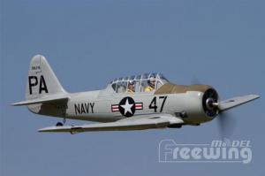 "Freewing AT-6 Texan Grey 1450mm - 57"" Wingspan - PNP"