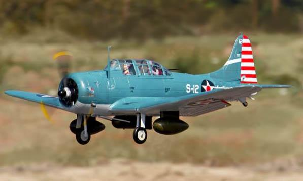 Freewing SBD Dauntless 1330mm Giant RC Warbird Airplane 6 CH