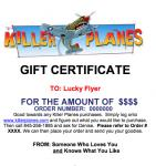 KILLER PLANES' GIFT CERTIFICATE (click here)
